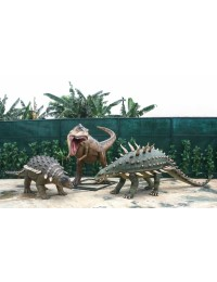 Dinosaurier Tyrannosaurus, Edmontonia und Gastonia