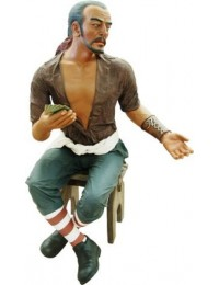 Pirat Carlos auf Stuhl