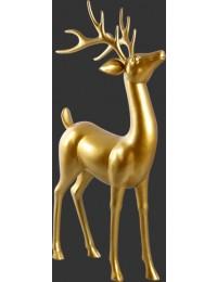 stehender Hirsch gold