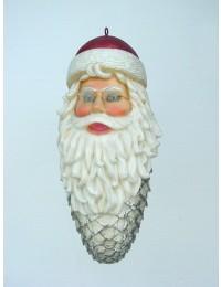 kleines Weihnachtsmanngesicht mit Bart als Weihnachtszapfen