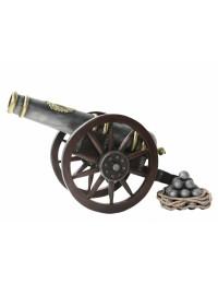 Kanone mit Kanonenkugeln