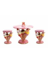 Eistüten Tisch mit Eistütenhockern