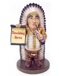 rauchender Indianer *Smoking Area*
