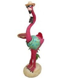 Flamingo als Butler