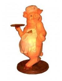 Schwein mit Tablett
