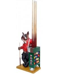 Boxer Hund mit Queue- und Kugelhalter