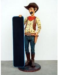 Cowboy mit Menütafel
