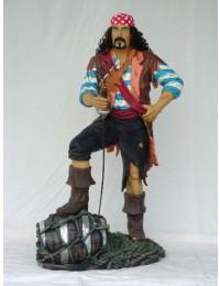 Pirat mit Faß