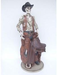 Cowboyskelett mit Sattel