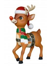 Rentier Bambi mit roter Nase