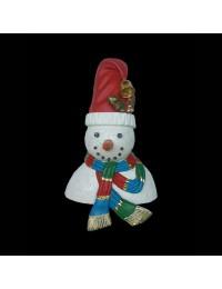 Schneemann Büste mit Mütze und Schal