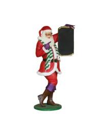 Schwuler Weihnachtsmann mit Angebotstafel