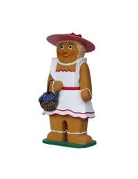 Lebkuchen-Frau mit Kleid und Handtasche