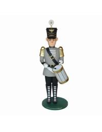 Großer grauer Nußknacker Soldat mit Trommel