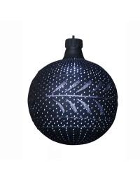 große schwarze LED Weihnachtskugel