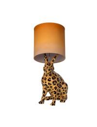 Hase im Leopardenlook als Stehlampe