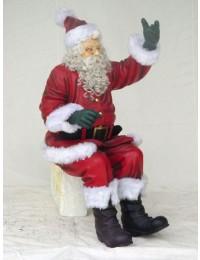 Weihnachtsmann winkend