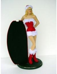 Weihnachtsgirl mit Tafel klein