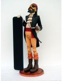 Pirat mit Tafel