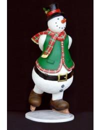 Schneemann auf Schlittschuhen