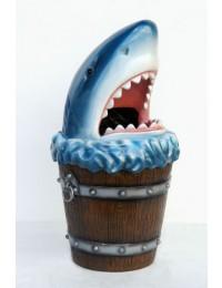 Abfalleimer Hai mit Wassereimer