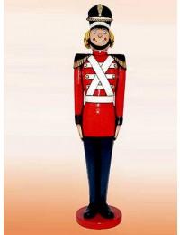 Nußknacker Soldat steht stramm