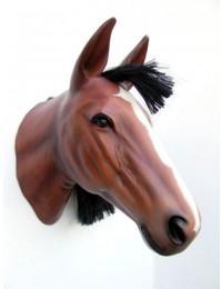 Pferdekopf mit Naturhaar