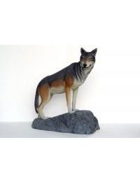 Wolf auf Felsen