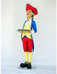 Englischer Kellner mit Tablet