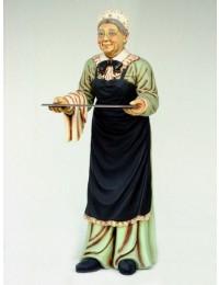 Oma als Kellnerin