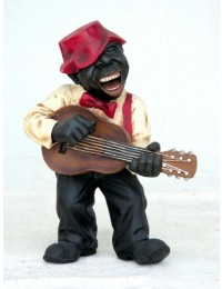 Lustiger Jazz Gitarrenspieler
