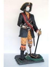 Pirat ohne Gesicht - für Andenkenfoto