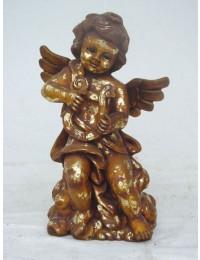 Engel stehend mit Harfe