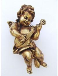 Engelputte hängend mit Gitarre gold