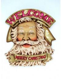 Weihnachtsmann Willkommensschild
