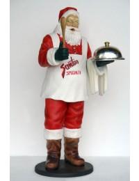 Weihnachtsmann als Spezialitätenkoch