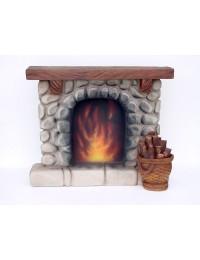 Kaminatrappe mit Feuerholz
