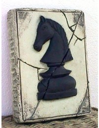 Schach Platte Pferd