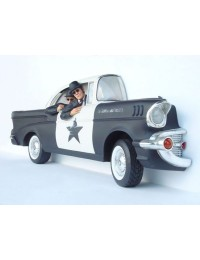 Polizeiauto mit Blues Brothers