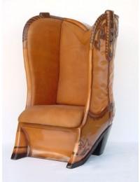Cowboystiefel Sessel Echtleder