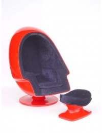 Eiersessel Rot (ohne Hocker)