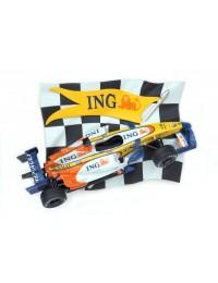 Rennflagge mit Formel 1 Wagen Blau