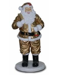 Weihnachtsmann mit Sack gold