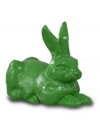 Liegender Hase grün