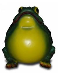 Dicker aufgeblaener Frosch naturell