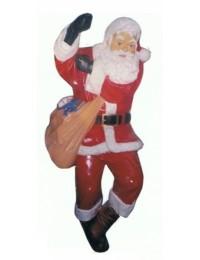 Weihnachtsmann am Seil kletternd groß