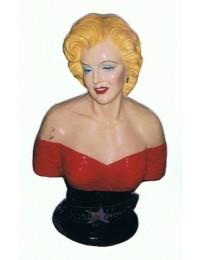 Marilyn Büste rot