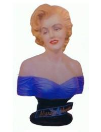 Marilyn Büste blau