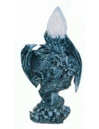 Kleine Drachenstehlampe mit Fackelglas