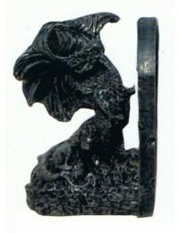 Buchstütze mit Drachen links